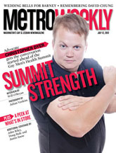 Christopher Dyer on the cover of Metro Weekly